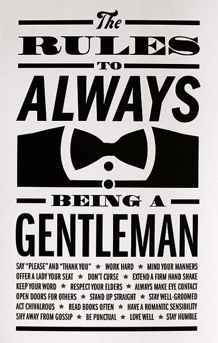 being a gentlemen