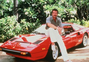 What adolescent boy then didn't want to be Tom Selleck in pulling up in a red Ferrari. It's almost as iconic as that cool 'stache.